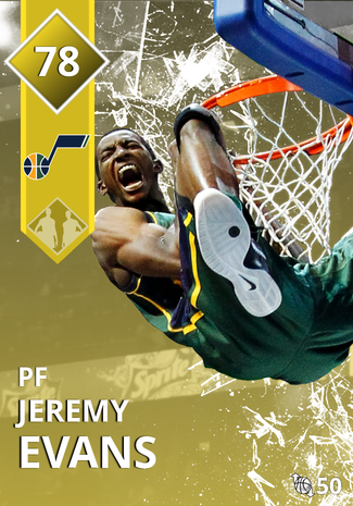 '17 Jeremy Evans gold card