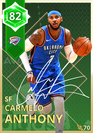 Carmelo Anthony emerald card