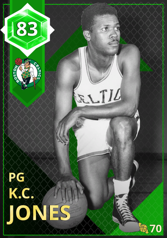 '69 K.C. Jones emerald card