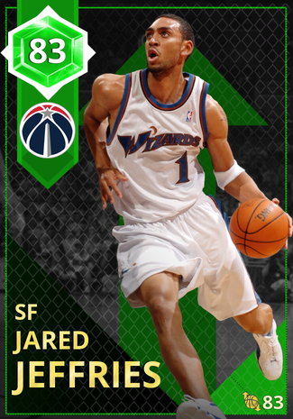 '10 Jared Jeffries emerald card