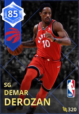 DeMar DeRozan sapphire card