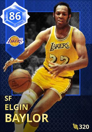 '76 Elgin Baylor sapphire card