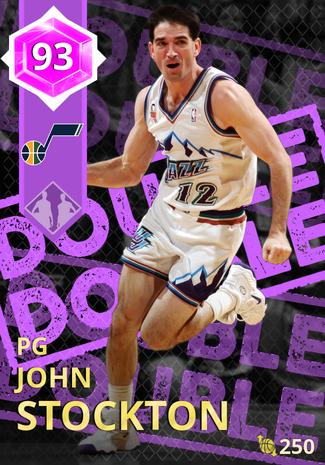 '02 John Stockton amethyst card