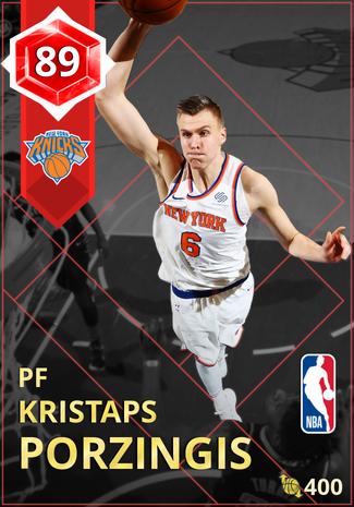Kristaps Porzingis ruby card