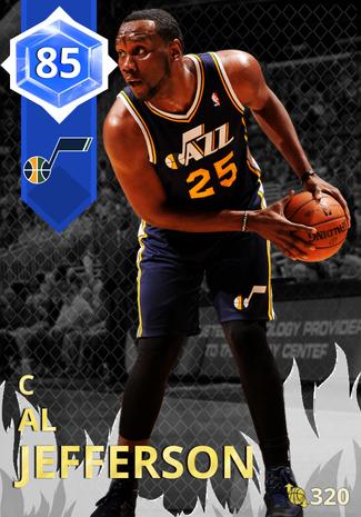 '14 Al Jefferson sapphire card