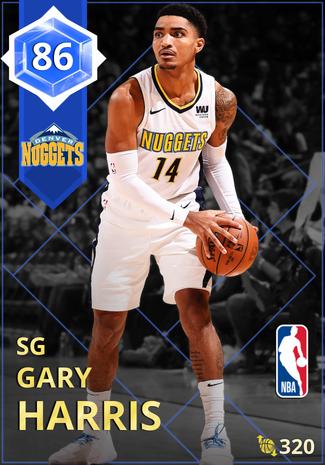 Gary Harris sapphire card