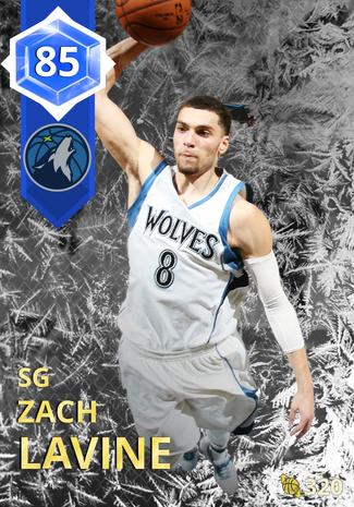 '20 Zach LaVine sapphire card