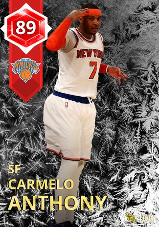 '16 Carmelo Anthony ruby card