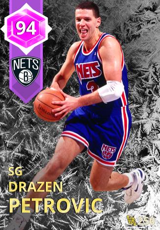 '97 Drazen Petrovic amethyst card