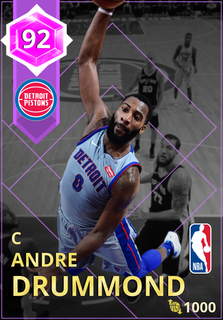 Andre Drummond amethyst card