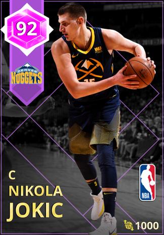 Nikola Jokic amethyst card