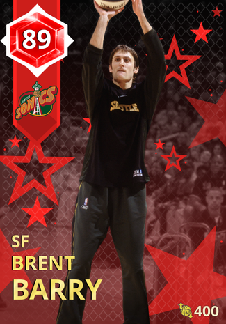 '08 Brent Barry ruby card