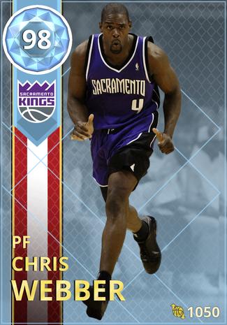 '01 Chris Webber diamond card