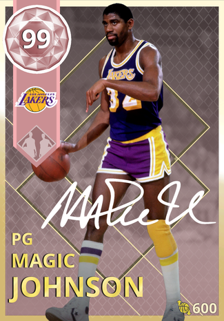 '95 Magic Johnson pinkdiamond card