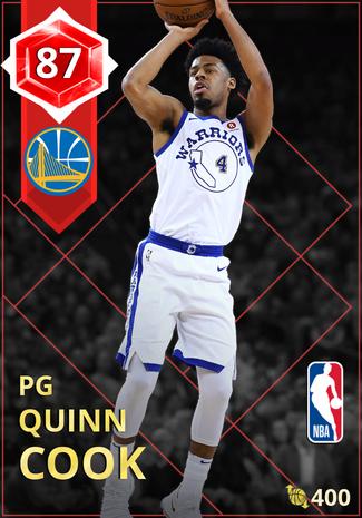 Quinn Cook ruby card