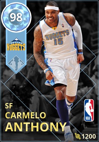'08 Carmelo Anthony diamond card