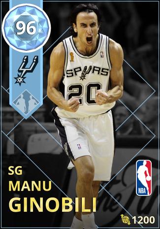 '12 Manu Ginobili diamond card