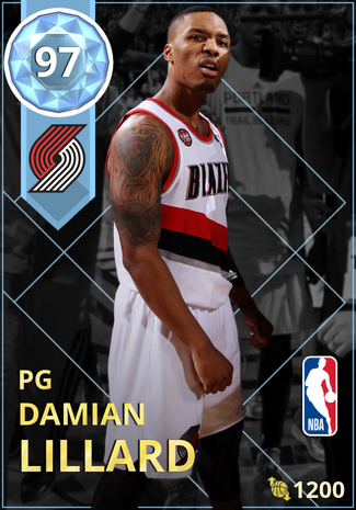 '18 Damian Lillard diamond card