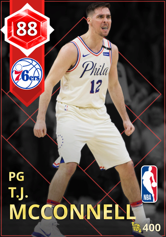 T.J. McConnell ruby card