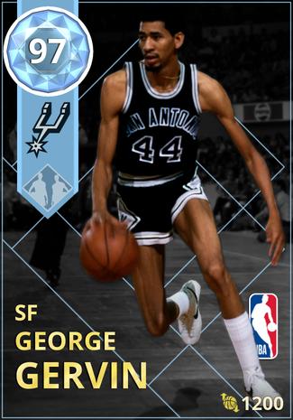 '81 George Gervin diamond card