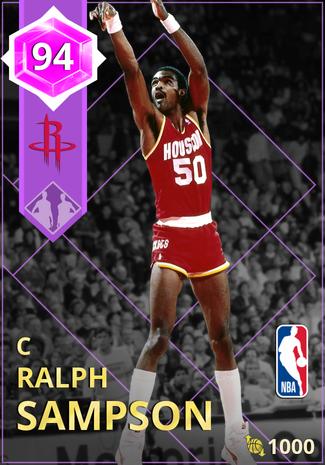 '89 Ralph Sampson amethyst card