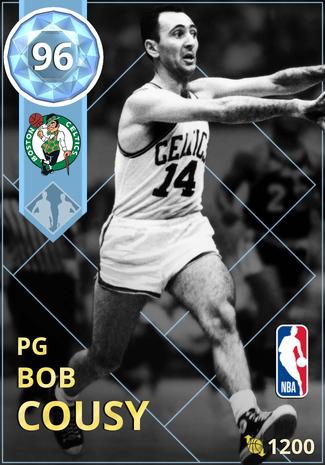 '74 Bob Cousy diamond card