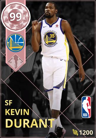 Kevin Durant pinkdiamond card