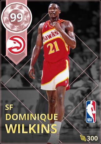 '97 Dominique Wilkins pinkdiamond card
