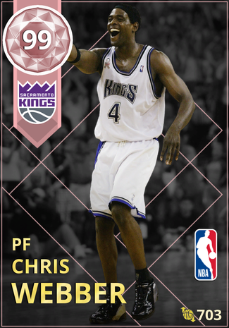 '01 Chris Webber pinkdiamond card
