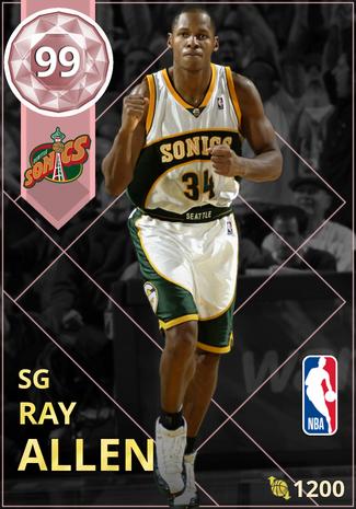 '08 Ray Allen pinkdiamond card