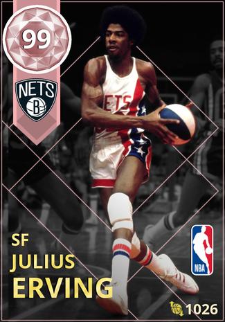 '76 Julius Erving pinkdiamond card