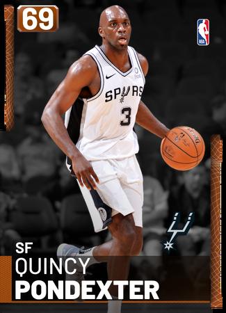 Quincy Pondexter bronze card