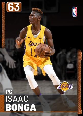 Isaac Bonga bronze card