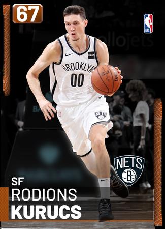 Rodions Kurucs bronze card