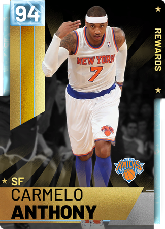 '12 Carmelo Anthony diamond card