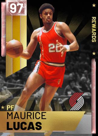 '18 Maurice Lucas pinkdiamond card