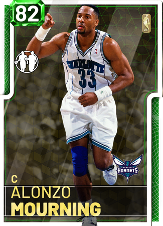'93 Alonzo Mourning emerald card