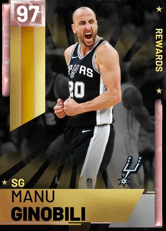 '05 Manu Ginobili pinkdiamond card
