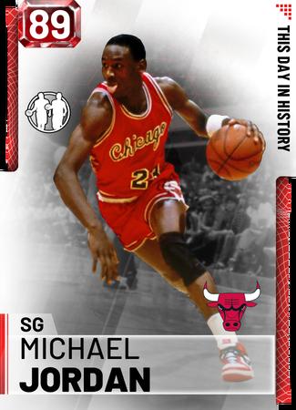 '86 Michael Jordan ruby card