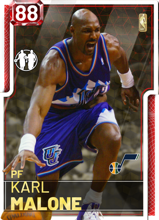 '98 Karl Malone ruby card