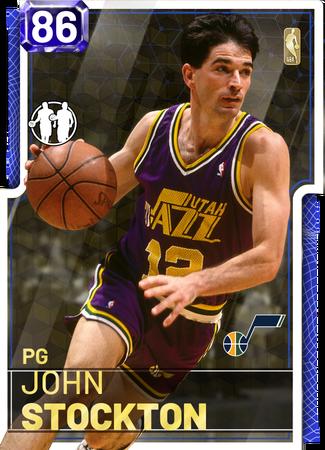 '98 John Stockton sapphire card