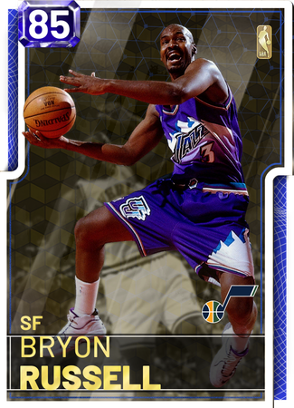 '98 Bryon Russell sapphire card