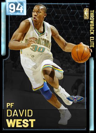 '18 David West diamond card