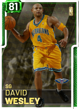 '07 David Wesley emerald card