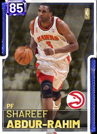 '02 Shareef Abdur-Rahim sapphire card