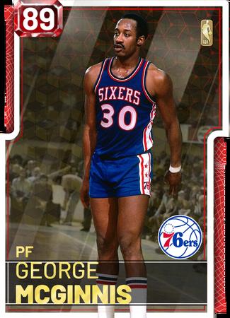 '77 George McGinnis ruby card