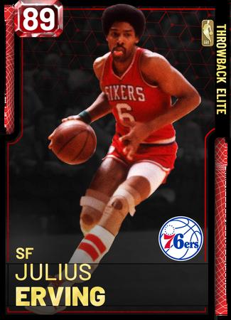 '85 Julius Erving ruby card