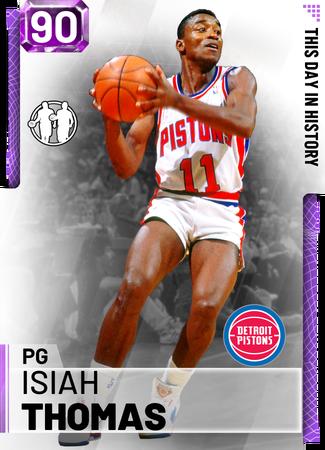 '94 Isiah Thomas amethyst card