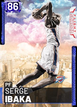 '12 Serge Ibaka sapphire card
