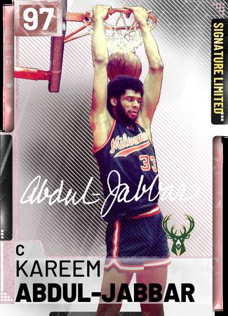 '72 Kareem Abdul-Jabbar pinkdiamond card